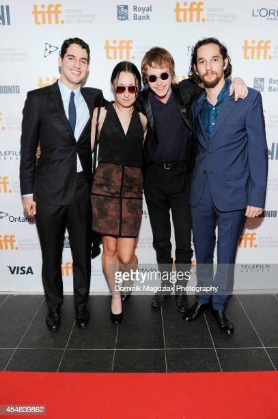Director Ben Safdie actress Arielle Holmes actor Caleb Landry Jones and director Joshua Safdie attend the 'Heaven Knows What' premiere at the Toronto...