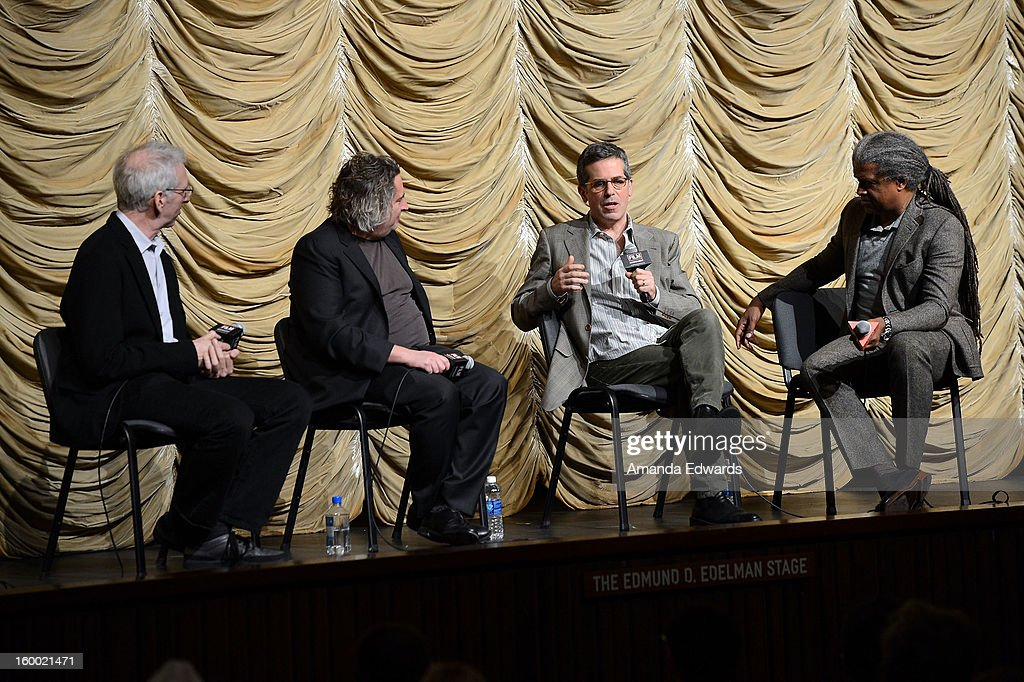 Director Ben Shapiro, photographer Gregory Crewdson, writer Jonathan Lethem and film curator Elvis Mitchell attend the Film Independent screening of Gregory Crewdson: Brief Encounters at the Bing Theatre At LACMA on January 24, 2013 in Los Angeles, California.