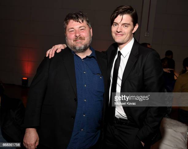 Director Ben Wheatley and actor Sam Riley attend the after party for The Los Angeles Premiere Of 'Free Fire' Presented By Casa Noble Tequila on April...