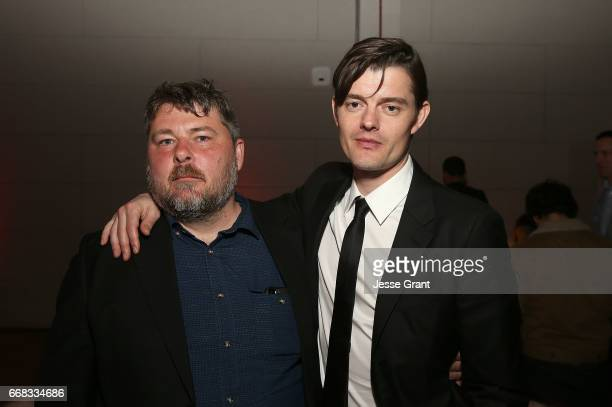 Director Ben Wheatley and actor Sam Riley attend the premiere of A24's 'Free Fire' after party on April 13 2017 in Los Angeles California