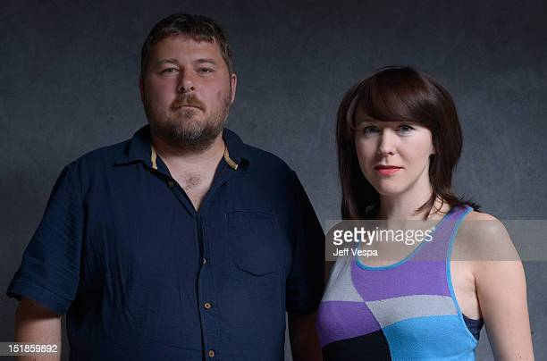 Director Ben Wheatley and actress Alice Lowe of Sightseers pose at the Guess Portrait Studio during 2012 Toronto International Film Festival on...