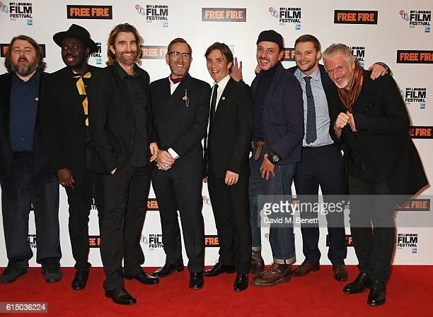 Director Ben Wheatley, Babou Ceesay, Sharlto Copley, Michael Smiley, Cillian Murphy, Enzo Cilenti, Jack Reynor and Patrick Bergin attend the 'Free...
