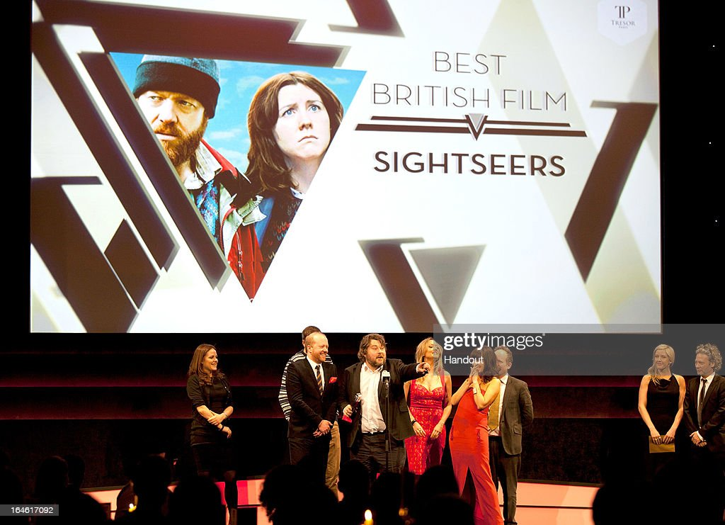 Director Ben Wheatley wins the Best British Film award for Sightseers at the Jameson Empire Awards at Grosvenor House on March 24, 2013 in London, England. Renowned for being one of the most laid-back awards shows in the British movie calendar, the Jameson Empire Awards celebrate the film industry's success stories of the year with Empire Magazine readers voting for the winners. Visit empireonline.com/awards2013 for more information.
