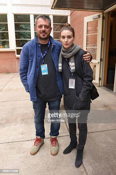 Director Benedict Andrews and Rooney Mara attend a screening of 'Una' at the Telluride Film Festival 2016 on September 3 2016 in Telluride Colorado