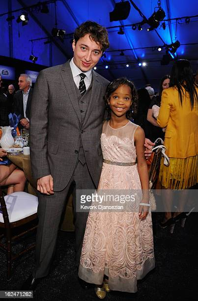Director Benh Zeitlin and actress Quvenzhane Wallis attend the 2013 Film Independent Spirit Awards at Santa Monica Beach on February 23 2013 in Santa...