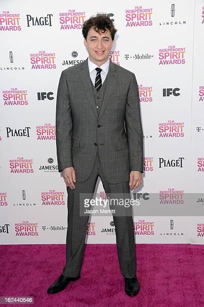 Director Benh Zeitlin attends the 2013 Film Independent Spirit Awards at Santa Monica Beach on February 23 2013 in Santa Monica California