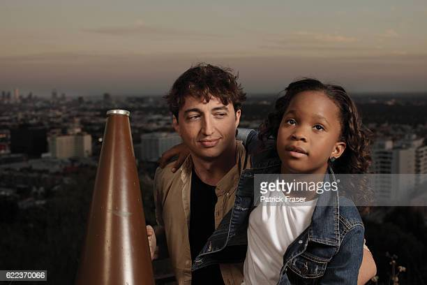 Director Benh Zeitlin with <Beasts of the Southern Wild> star Quvenzhané Wallis