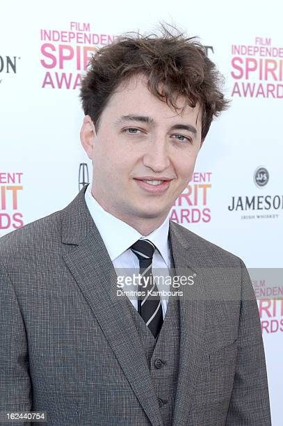 Director Benh Zeitlin with Jameson prior to the 2013 Film Independent Spirit Awards at Santa Monica Beach on February 23 2013 in Santa Monica...