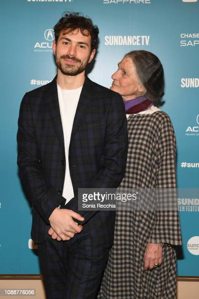 Director Beniamino Barrese and Benedetta Barzini attend the The Disappearance Of My Mother Premiere during the 2019 Sundance Film Festival at...