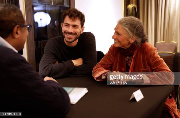 Director Beniamino Barrese and Benedetta Barzini speak during the Filmmakers Afternoon Tea at the 63rd BFI London Film Festival at The May Fair Hotel...