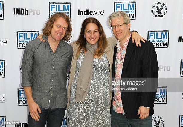 Director Benjamin Murray Sundance Film Festival Senior Programmer Moderator Caroline Lebresco and filmmaker Eddie Schmidt attend the Film Independent...