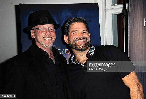 Director Benjamin Pollack and actor Matt Zarley arrive for the Special Screening of Matt Zarley's opefulROMANTIC With George Takei held at American...