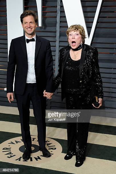 Director Bennett Miller and actress Shirley MacLaine attend the 2015 Vanity Fair Oscar Party hosted by Graydon Carter at Wallis Annenberg Center for...