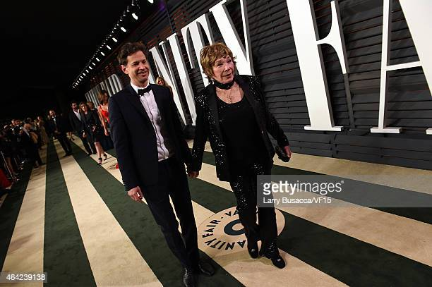 Director Bennett Miller and actress Shirley MacLaine attend the 2015 Vanity Fair Oscar Party hosted by Graydon Carter at the Wallis Annenberg Center...