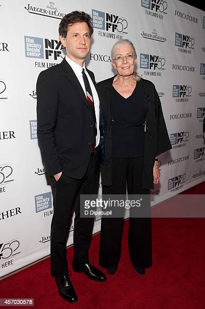 Director Bennett Miller and actress Vanessa Redgrave attend the 'Foxcatcher' premiere during the 52nd New York Film Festival at Alice Tully Hall on...