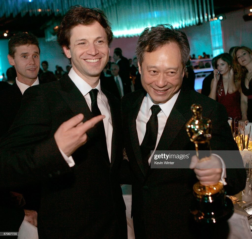 Director Bennett Miller and Ang Lee attend the Governor's Ball after the 78th Annual Academy Awards at The Highlands on March 5, 2006 in Hollywood, California.