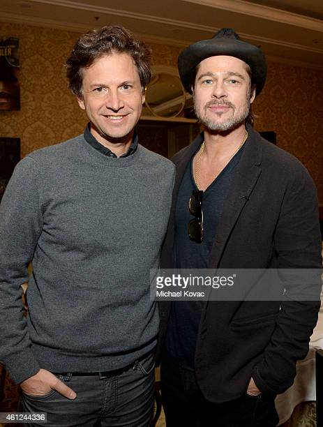 Director Bennett Miller and producer/actor Brad Pitt attend the 15th Annual AFI Awards Luncheon at Four Seasons Hotel Los Angeles at Beverly Hills on...