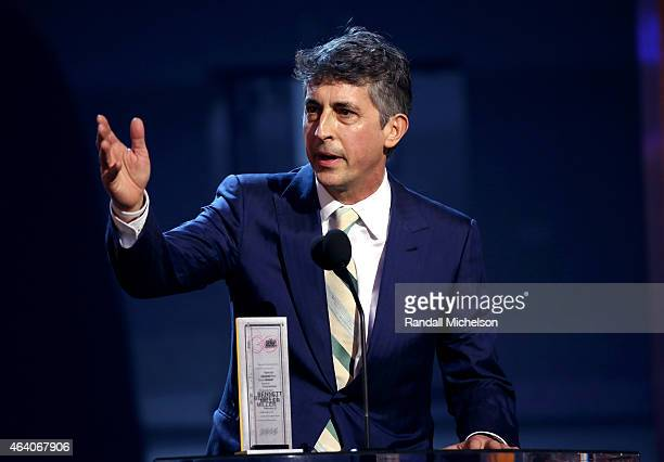 Director Bennett Miller speaks onstage during the 2015 Film Independent Spirit Awards at Santa Monica Beach on February 21 2015 in Santa Monica...