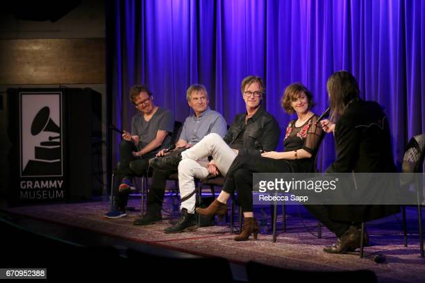 Director Benno Nelson and musicians Chris Stamey Dan Wilson and Skylar Gudasz speak with Executive Director of the GRAMMY Museum Scott Goldman at...