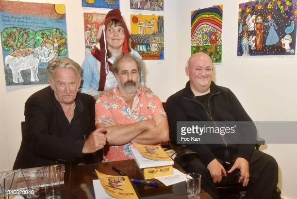 """Director Benoit Delepine, Singer/actress/painter Candy Ming, director Gustave Kervern and Plastician/cartoonist Stephane Blanquet attend """"Le Cinema..."""