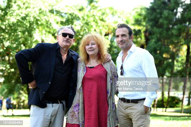 Director Benoit DelepineActress Yolande Moreau and Actor Jean Dujardin attend the 'I Feel Good' photocall during the 71st Locarno Film Festival on...
