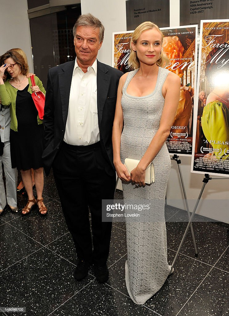 Director Benoit Jacquot and actress Diane Kruger attend the 'Farewell, My Queen' New York Screening at MOMA on July 9, 2012 in New York City.