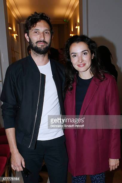 Director Benoit Petre and actress Isabelle Vitari attend French minister of Culture and Communication Fleur Pellerin gives Medal of 'Knight of Arts...