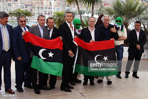 Director BernardHenri Levy poses at the Le Serment de Tobrouk photocall during the 65th Annual Cannes Film Festival at Palais des Festivals on May 25...