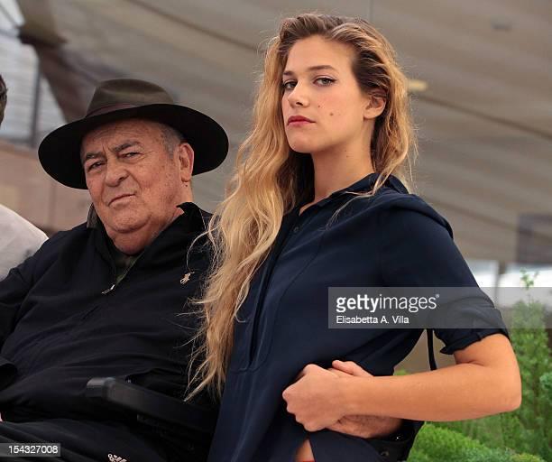 Director Bernardo Bertolucci and actress Tea Falco attend 'Io e Te' photocall at Visconti Palace Hotel on October 18 2012 in Rome Italy
