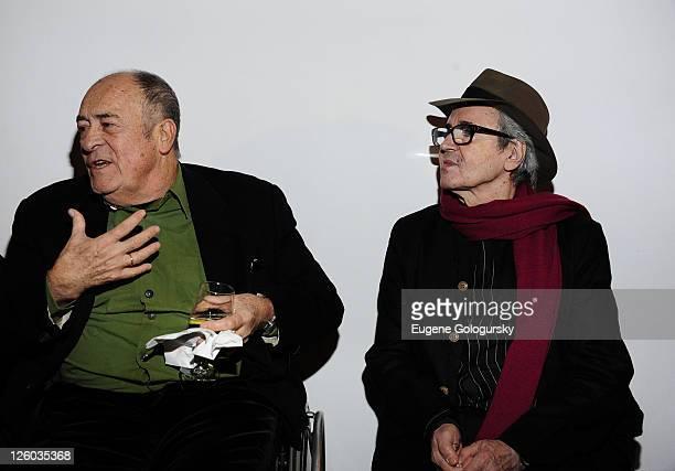 Director Bernardo Bertolucci and Musician Gato Barbieri attend the opening reception for the Bernardo Bertolucci film retrospective at The Museum of...