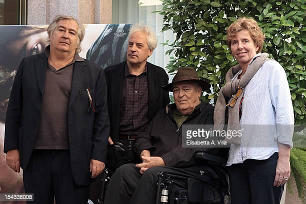Director Bernardo Bertolucci and Umberto Cantarello attend 'Io e Te' photocall at Visconti Palace Hotel on October 18 2012 in Rome Italy