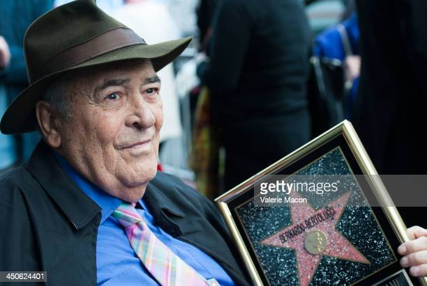 Director Bernardo Bertolucci celebrates his Star on the Hollywood Walk of Fame on November 19 2013 in Hollywood California