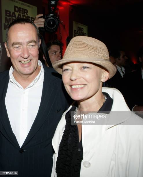 Director Bernd Eichinger and actress Barbara Rudnik attend the 'The Baader Meinhof Complex' After Party at the 'Haus der Kulturen' on September 16,...