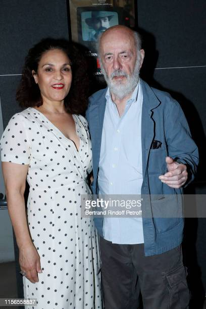 Director Bertrand Blier and his wife actress Farida Rahouadj attend Le Daim Movie Premiere at MK2 Odeon on June 17 2019 in Paris France
