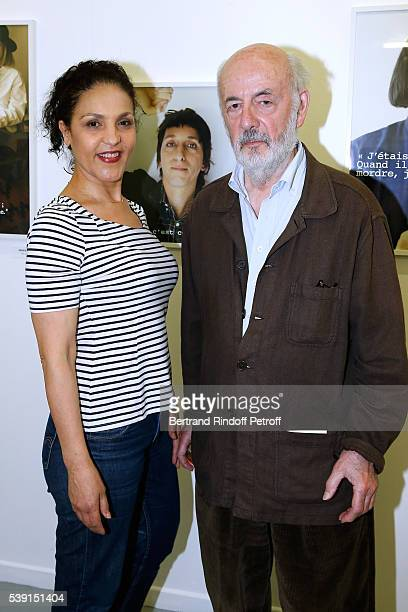Director Bertrand Blier and his wife actress Farida Rahouadj attend the 55 Politiques Exhibition of Stephanie Murat's Pictures Opening Party at...