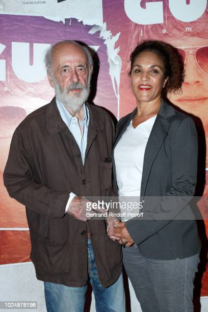 Director Bertrand Blier and his wife actress Farida Rahouadj attends the Guy Paris Premiere at Gaumont Capucines on August 28 2018 in Paris France