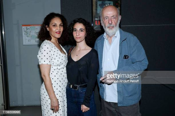 Director Bertrand Blier his wife actress Farida Rahouadj and their daughter Leila Blier attend Le Daim Movie Premiere at MK2 Odeon on June 17 2019 in...