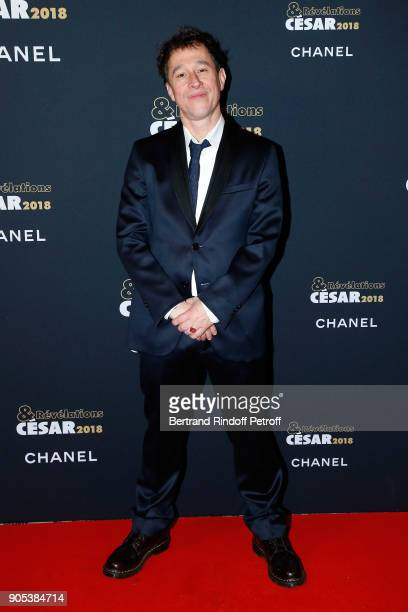 Director Bertrand Bonello attends the 'Cesar Revelations 2018' Party at Le Petit Palais on January 15 2018 in Paris France