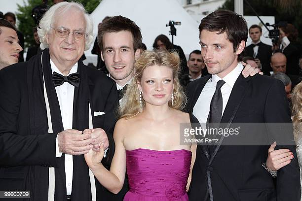 Director Bertrand Tavernier Actor Gregoire LeprinceRinguet actress Melanie Thierry and Raphael Personnaz attend The Princess Of Montpensier Premiere...