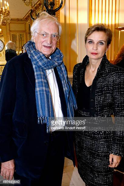 Director Bertrand Tavernier and Melita Toscan du Plantier attend Actor Harvey Keitel receives the Medal of Commander of Arts and Letters at Ministere...
