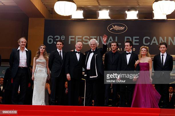 Director Bertrand Tavernier Gaspard Ulliel, Gregoire Leprince-Ringuet, actress Melanie Thierry and singer Raphael , attend 'The Princess Of...
