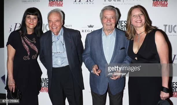 Director Beth Federici chef Andre Soltner chef Jacques Pepin and producer Kathleen Squires attend the James Beard America's First Foodie NYC premiere...