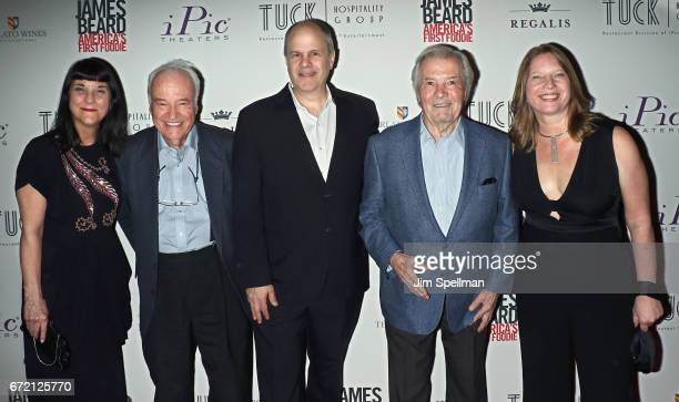 Director Beth Federici chef Andre Soltner executive producer Michael Kantor chef Jacques Pepin and producer Kathleen Squires attend the James Beard...