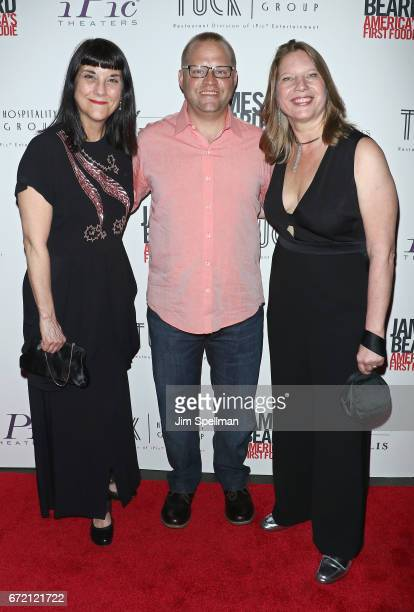Director Beth Federici chef Ben Pollinger and Coproducer Kathleen Squires attend the James Beard America's First Foodie NYC premiere at iPic Fulton...