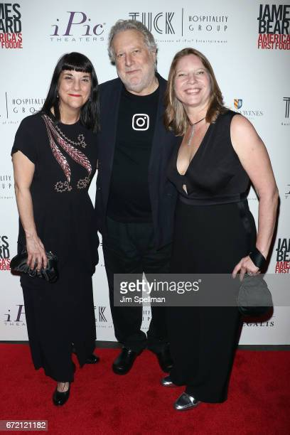 Director Beth Federici chef Jonathan Waxman and Coproducer Kathleen Squires attend the James Beard America's First Foodie NYC premiere at iPic Fulton...