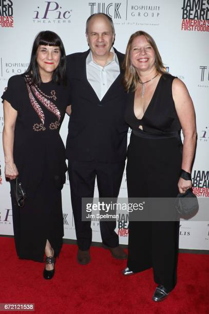 Director Beth Federici executive producer Michael Kantor and Coproducer Kathleen Squires attend the James Beard America's First Foodie NYC premiere...