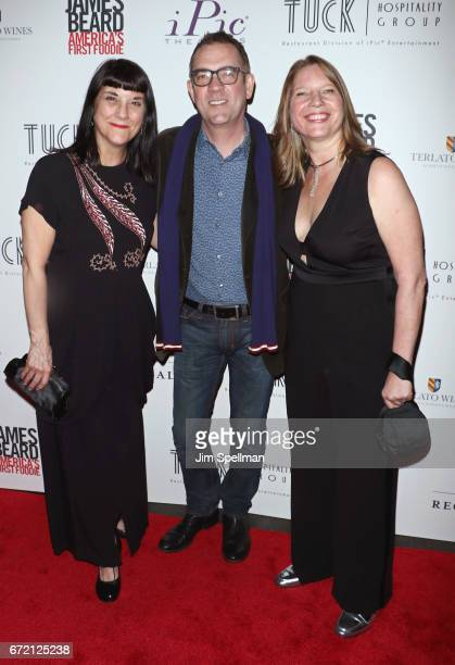 Director Beth Federici TV personality Ted Allen and Coproducer Kathleen Squires attend the James Beard America's First Foodie NYC premiere at iPic...