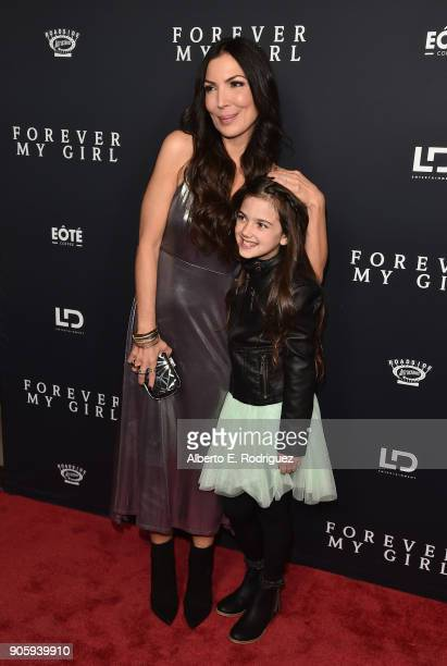 Director Bethany Ashton Wolf and actress Abby Ryder Fortson attend the premiere of Roadside Attractions' 'Forever My Girl' at The London West...