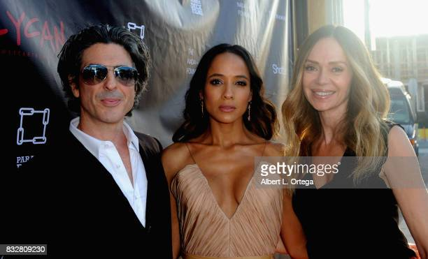 "Director Bev Land actress Dania Ramirez and actress Vanessa Angel arrive for the Premiere Of Parade Deck's ""Lycan"" held at Laemmle's Ahrya Fine Arts..."
