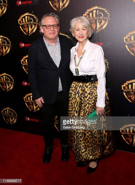 Director Bill Condon and actress Dame Helen Mirren attend Warner Bros Pictures The Big Picture exclusive presentation during CinemaCon at The...